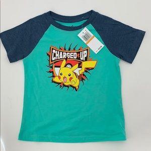 4/$25 Pokémon Pikachu Boys T-Shirt Size 3 NWT